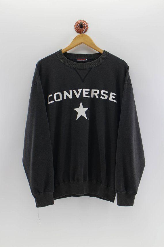 e733b5f5f9 CONVERSE Sweatshirt Big Logo Converse Jumper Pullover 1990s Unisex ...
