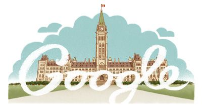 Google Doodle | July 1, 2013 | Canada Day