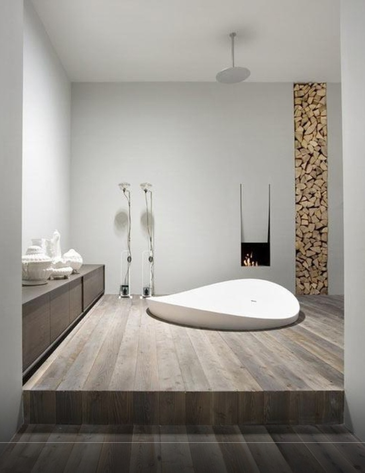 Modern Rustic Bathroom # gorgeous sunken bath