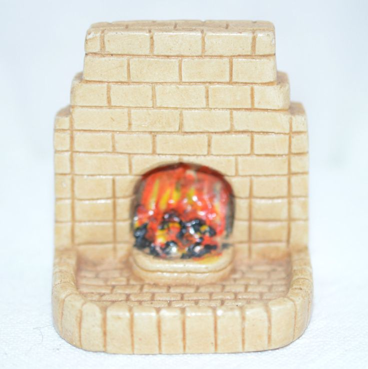 KAYBOT SMALL VINTAGE DOLLSHOUSE FIREPLACE | eBay