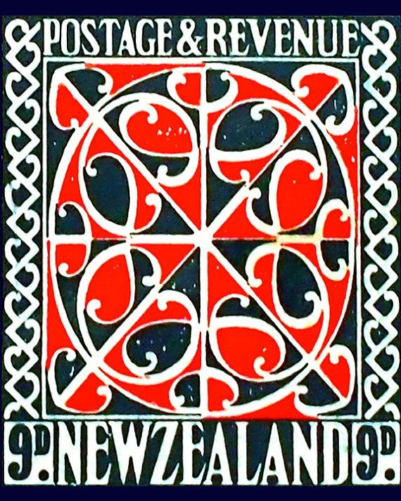 Maori Pattern Stamp Photograph  Red & Black  by MissEmbellish