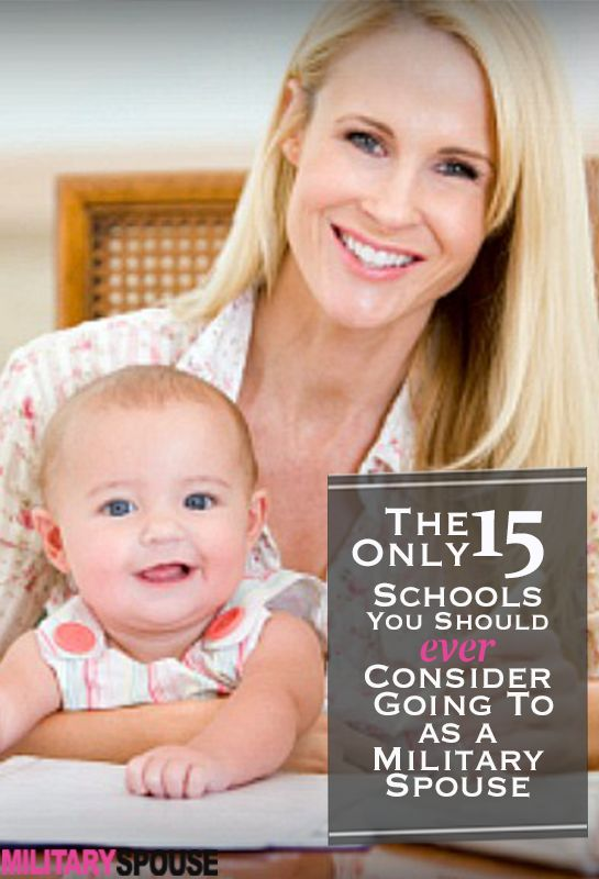 Really great schools that follow you as your life moves along in the military! >> check them out and pass on the good news to your friends http://militaryspouse.com/education/the-only-15-schools-you-should-ever-consider-going-to-as-a-military-spouse/