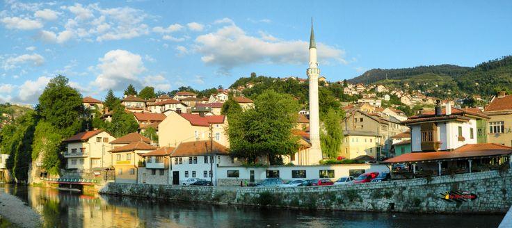 Bascarsija, Sarajevo, Bosnia and Herzegovina, Nikon Coolpix L310, panorama mode: segment 3, HDR-Art photography, 201607101815