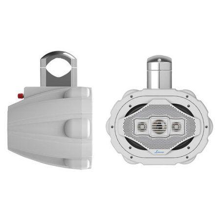 Lanzar 300 Watts 6 inchx 9 inch 4-Way Marine Wake Board Speaker (White Color)