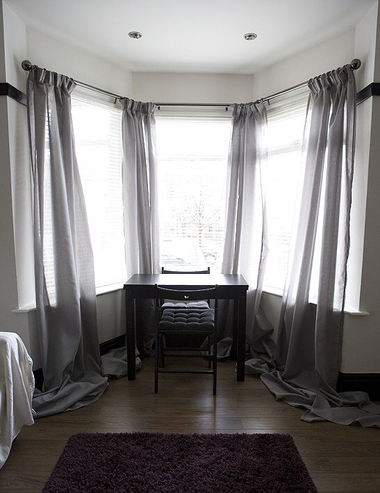 28 best Window Treatments Ideas for Bay WIndows images on Pinterest