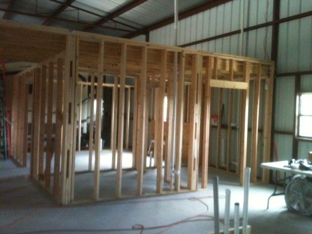 Interior Framing | Barndominium interior, Barndominium ...