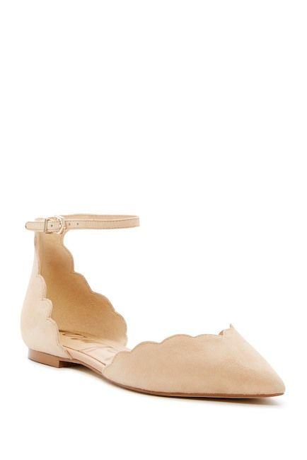 Sam Edelman Rowen Suede Ankle Strap Flat / Cute Fall Scallop Flats / @nordstromrack #rackpack