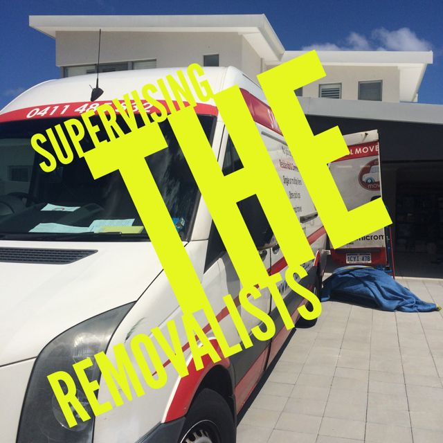 Supervising the removalists while our client was at work Finer Details Concierge and Organiser Service