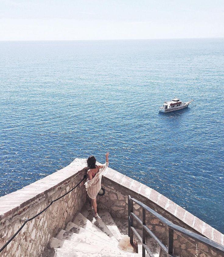 "Sardinia - Italy  ""Blue view 💙🌀 wishing you a wonderful weekend! #sardinia #capocaccia #bluesea"""