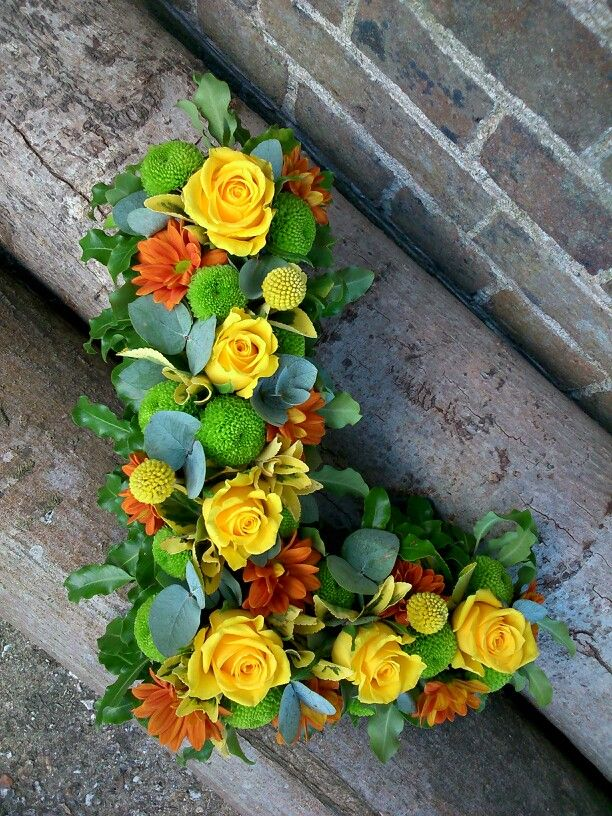 Open floral letter