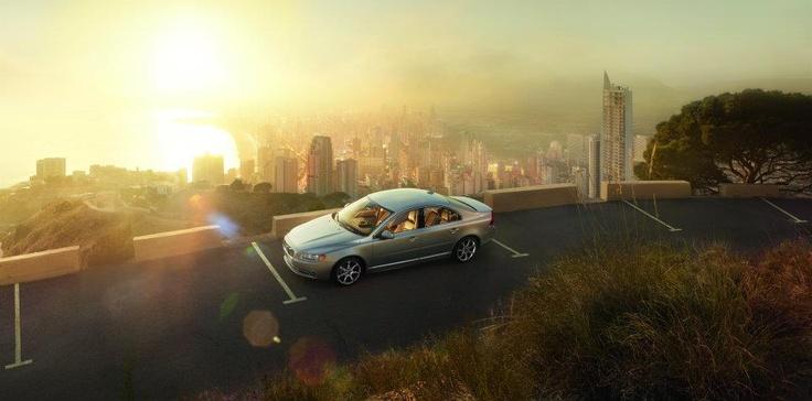 Sunlight over Benidorm - Volvo