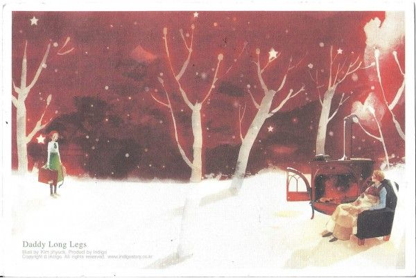 "Kim Ji Hyuck (Hanuol), ""Daddy Long Legs"" illustration.  I need to read this book.  It looks so magical."