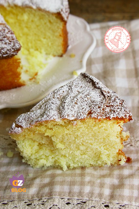 Cake with milk, no eggs, no butter (TORTA AL LATTE SOFFICE SENZA UOVA BURRO E…