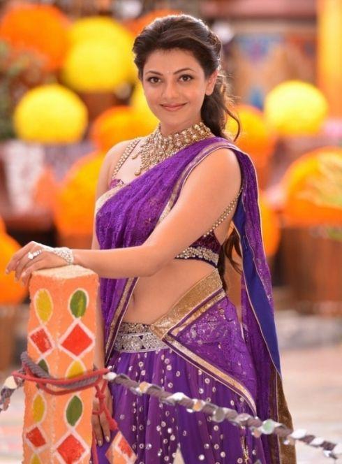 Hot Kajal Aggarwal in Saree #KajalAgarwal #FoundPix