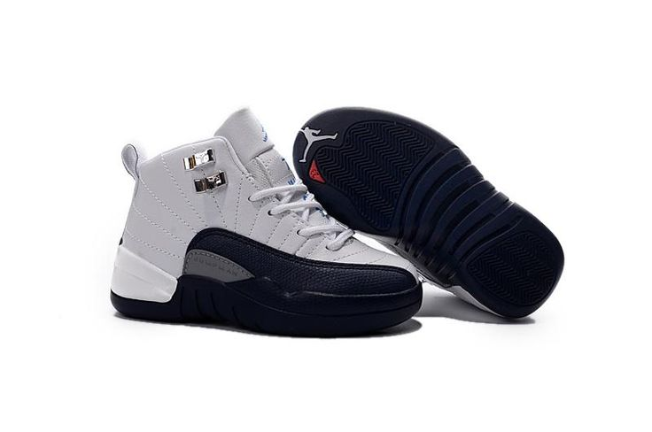 7b589513b2c ... inexpensive buy 2016 discount nike air jordan 12 xii kids basketball  shoes white black child sneakersnike