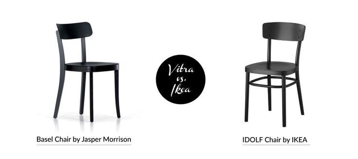 Ikea vs Design - Ikea 'Idolf' chair vy Vitra 'Basel' chair