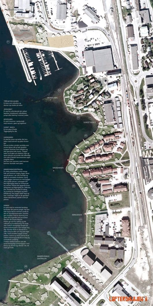 Bustler: Arkitektgruppen Cubus' 1st-place entry of the Mo i Rana Waterfront competition