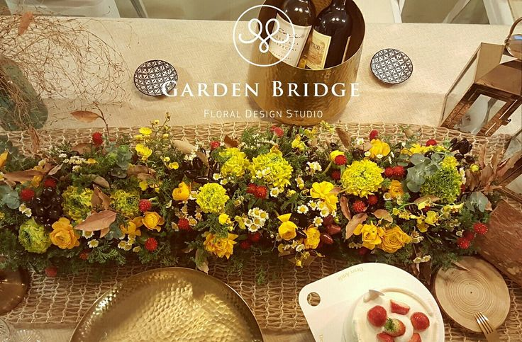 Flower table deco GardenBridge academy seoul korea florist