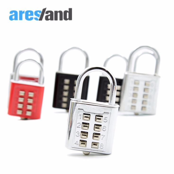 Aresland 8 Digit Combination Zinc Alloy Padlocks Travel Coded Lock for Suitcases Travel Accesories Color Random