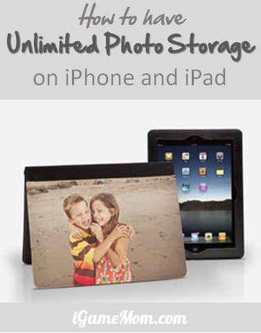 How to have FREE unlimited photo storage on iPhone iPad - also works on Adroid phone and tablet. #iPhone #Howto