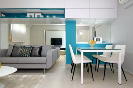 Elegant TV And Small Dining Room Decoration In Modern