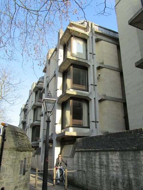 "St Johns College's ""beehive"" buildings, beautiful 60's ""Tetris Block"" brutalist architecture"