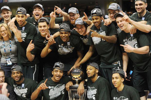 Michigan State football coaches Mark Dantonio, Pat Narduzzi show support for Spartans basketball | MLive.com