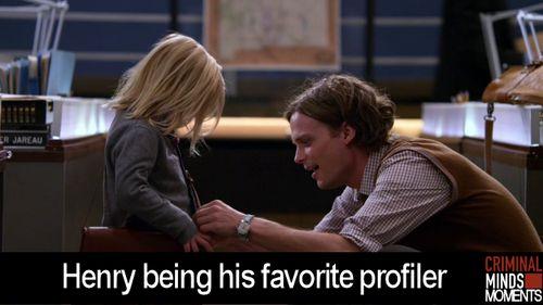 Criminal Minds Moments That should really say 'Henry's favorite profiler' or 'Reid being his favorite profiler'...