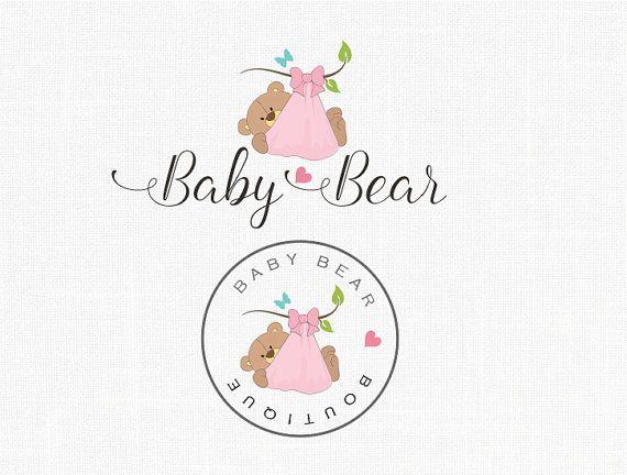 Exclusivity Premade Baby Bear Logo Design Boutique Logo