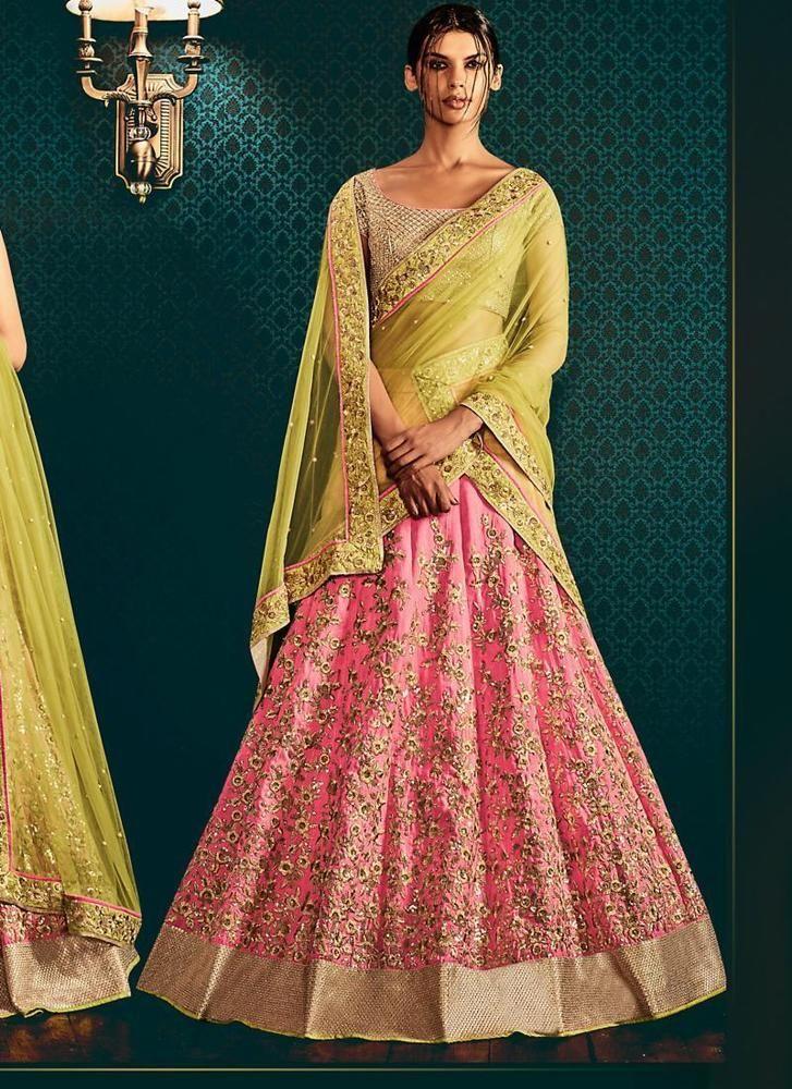 Sari Indian Partywear Bollywood Pakistani Designer Saree Ethnic Dress Wedding #TanishiFashion #LehengaSari