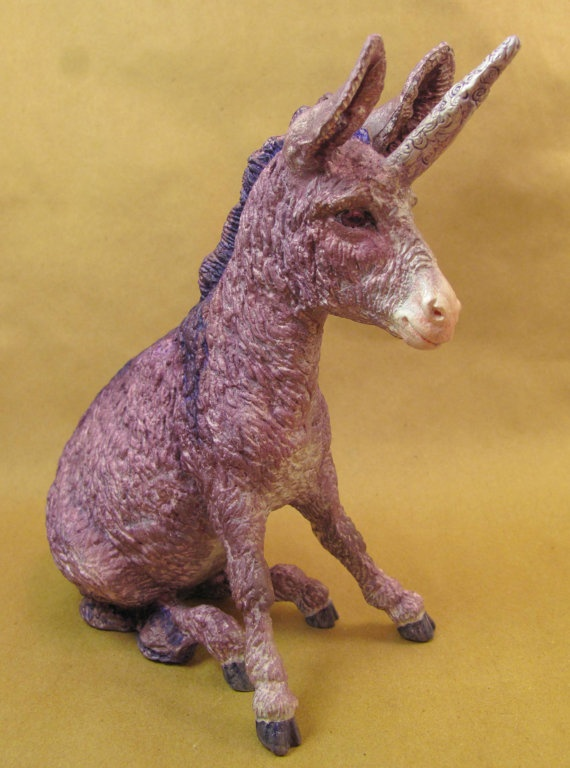 Unicorn Donkey Custom Breyer Horse By Horsenfefferhobbies