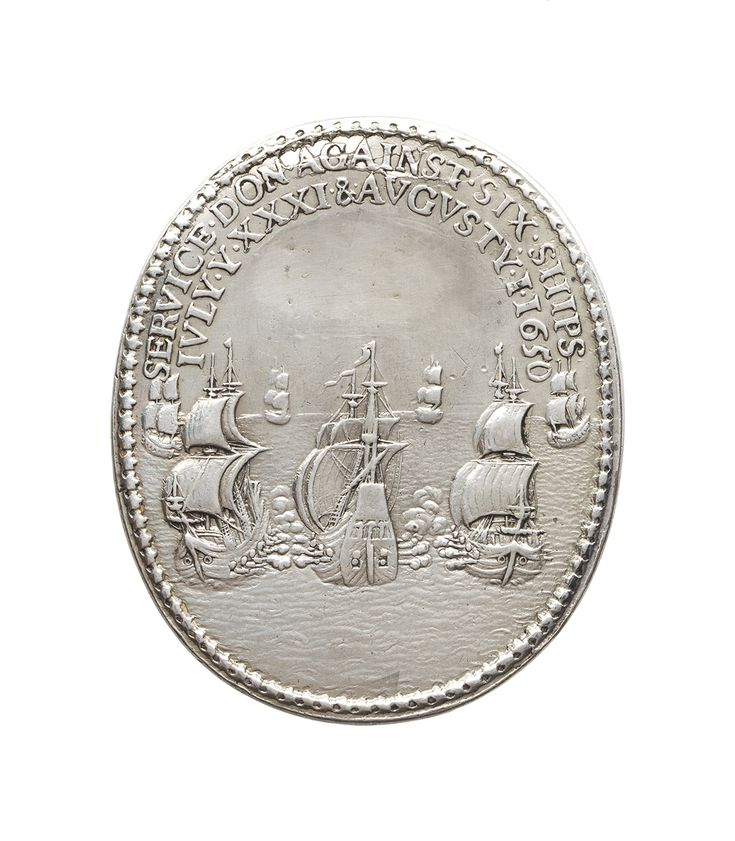 Naval reward medal commemorating the service against six ships, 1650 - National Maritime Museum
