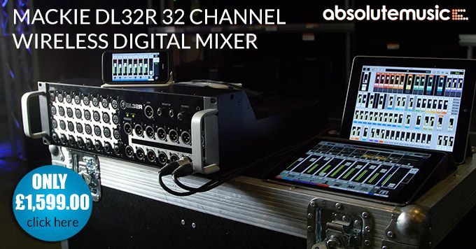 Mackie DL32R Wireless Mixer. Control with your iPad.