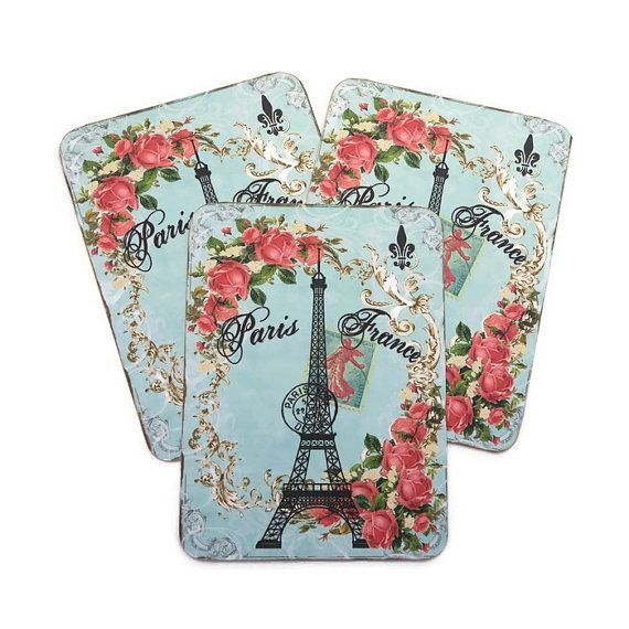 Blank Note Cards Paris Eiffel Tower Note by EnchantedQuilling
