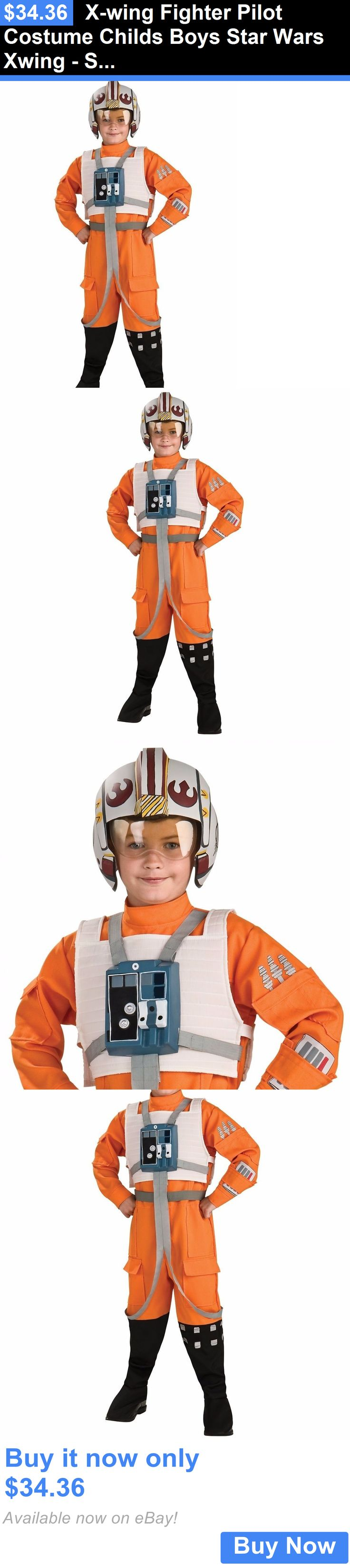 Halloween Costumes Kids: X-Wing Fighter Pilot Costume Childs Boys Star Wars Xwing - S 4-6 M 8-10 L 12-14 BUY IT NOW ONLY: $34.36