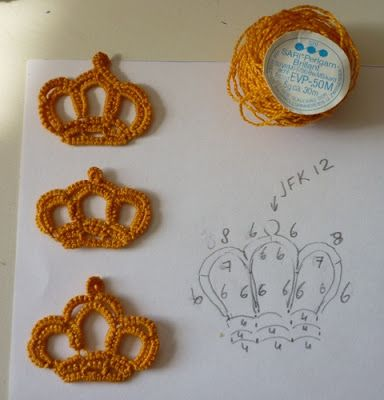 Tatting Crochet Crown - Chart ❥ 4U // hf