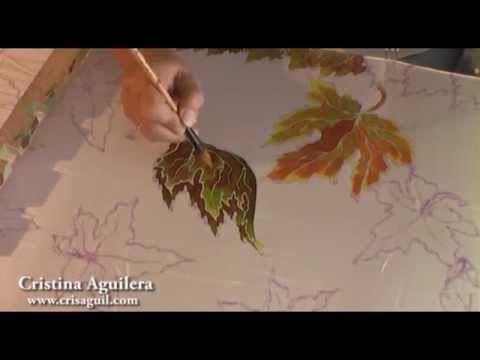 Pintura en seda , silk painting , pintura en seda - YouTube
