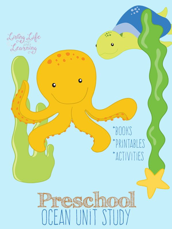 Books, activities and printables to put together your own preschool ocean unit study