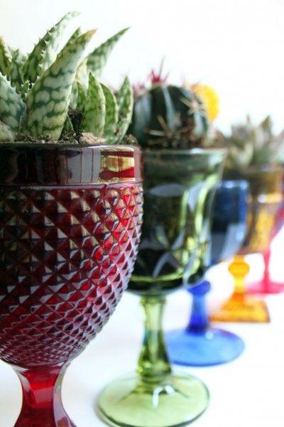Goblet Planters! Such a Cool Idea #DIY #planter