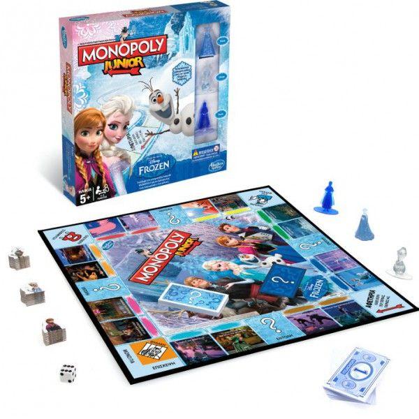 """Επιτραπέζιο παιχνίδι """"Monopoly Junior Game Frozen Edition"""""""