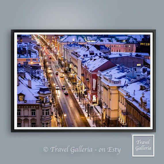 Vilnius Lithuania City Scene Urban Poster  Cheap / Amazing /