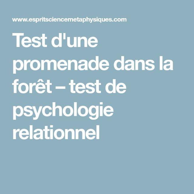 Test d'une promenade dans la forêt – test de psychologie relationnel