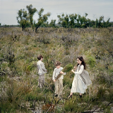 """the Wimmera 1864 #1"" by Polixeni Papapetrou from the Haunted Country exhibition, commemorates the Duff children ""Lost in the bush"""
