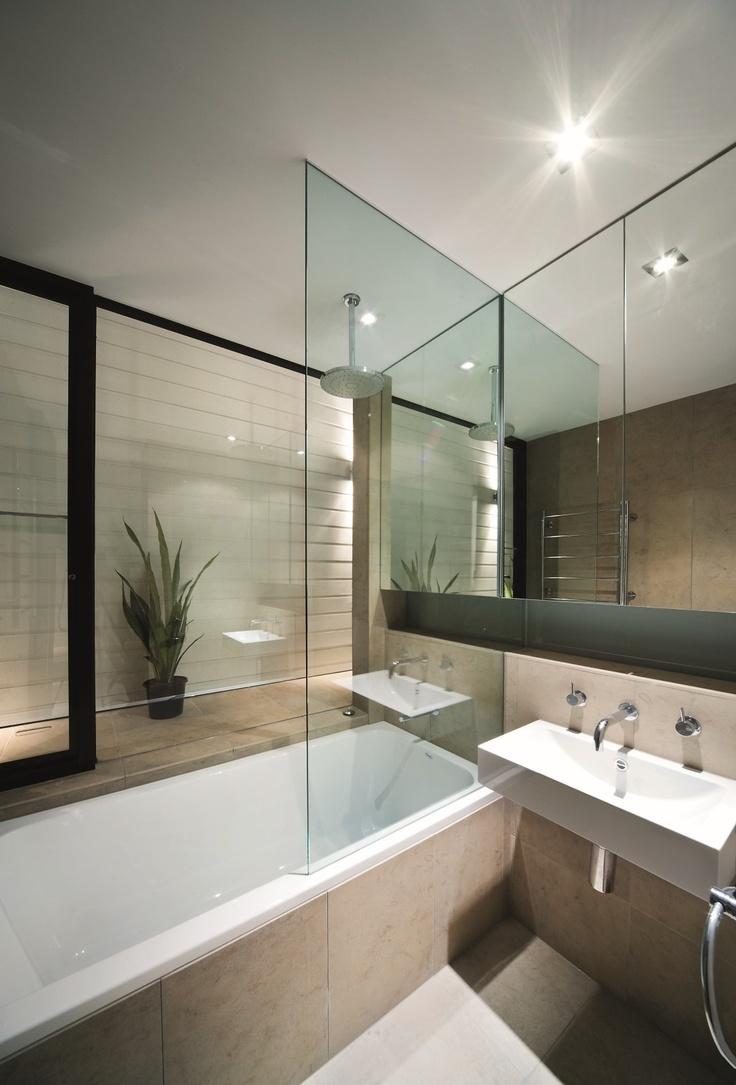 Contemporary condo bath modern bathroom chicago by jill jordan - Album Projects Interiors Gallery Cobden Street South Melbourne 4