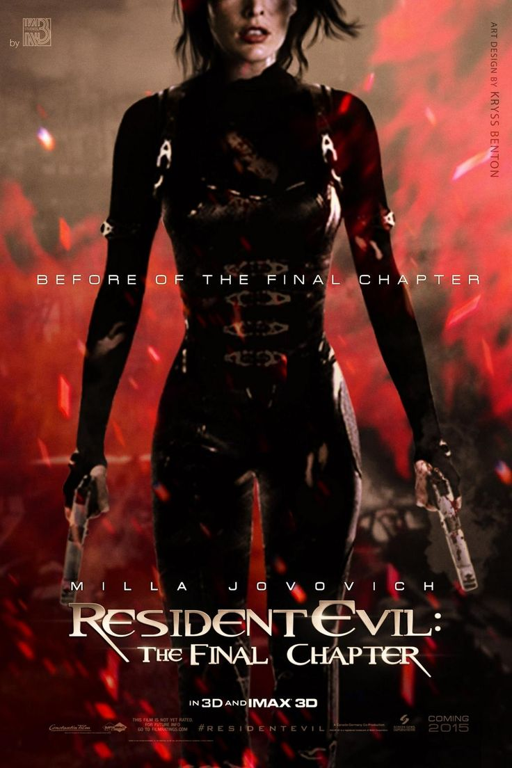 Poster design latex - Resident Evil The Final Chapter 2016 Stars Wentworth Miller Milla Jovovich