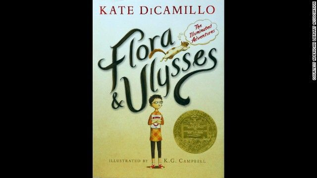 """""""Flora & Ulysses: The Illuminated Adventures,"""" by Kate DiCamillo, is the 2014 Newbery Medal winner for the 'most outstanding contribution to children's literature'. t's the story of a young comic book enthusiast and cynic, Flora, and a magical squirrel named Ulysses who helps Flora against her greatest enemy. via cnn #Books #Kids #Newberry_Award_2014 #Kate_DiCamillo"""