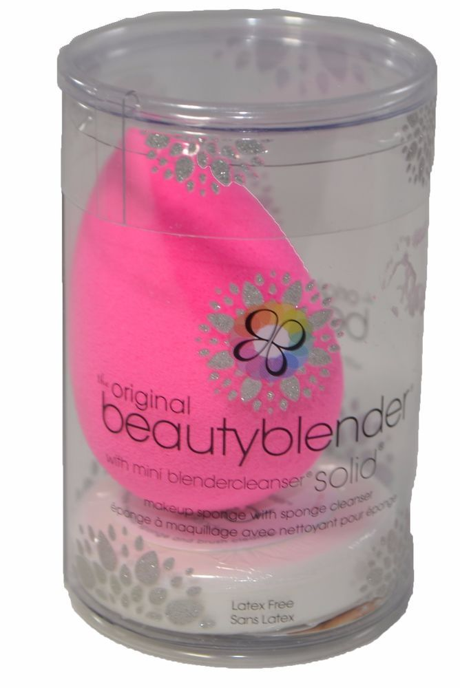 The Original Beauty Blender with mini blendercleanser Solid Wet Squeeze Bounce #Beautyblender