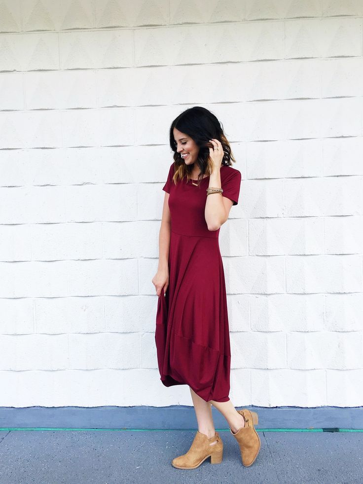 Burgundy Isabelle Dress | ROOLEE