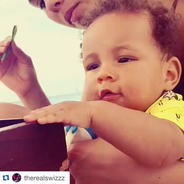 "Pin for Later: 35 Adorable Pictures of Alicia Keys and Swizz Beatz's Boys  The couple shared an adorable video of Genesis saying his first word, ""Dada,"" in August 2015."