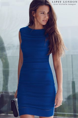 Out with the girls at the weekend? Then you'll be needing a new dress that's guaranteed to make a style statement. This stunning blue bodycon dress from Lipsy London will definitely turn heads!